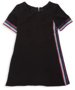 Zoe Girl's Shimmer Stripe Shift Dress