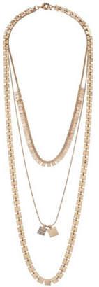 Canvas Crystal Multi-Row Necklace