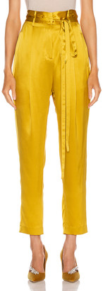 Mason by Michelle Mason Paperbag Cropped Trouser in Dijon | FWRD