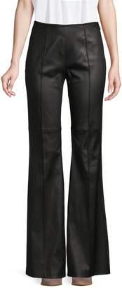 Michael Kors Leather Flared Pants