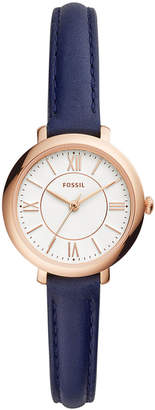 Fossil Women's Mini Jacqueline Navy Leather Strap Watch 26mm