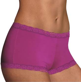 b24e13b44 Maidenform Microfiber Lace-Trim Boyshorts 40760 - Women's