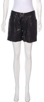 Yigal Azrouel Leather Mini Shorts