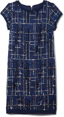 Vince Camuto Plaid Sequin Dress
