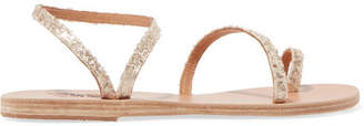 Ancient Greek Sandals Eleftheria Sequined Leather Sandals - Gold