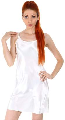 Simplicity Women's Satin Camisole Nightgown Classic Chemise Slip Sleepwear