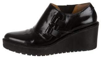 3.1 Phillip Lim Patent Leather Wedge Ankle Booties