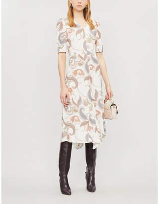 See by Chloe V-neck printed crepe midi dress