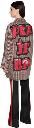 Marco De Vincenzo Pep It Up Plaid Faille Coat