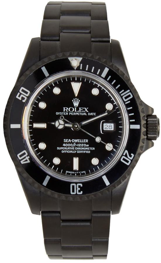 Black Limited Edition Matte Black Limited Edition Rolex Sea Dweller Watch