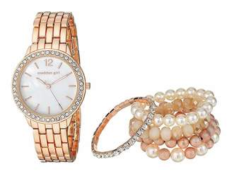 Steve Madden Girl Watch with Stretch Bracelet Set SMGS018 Watches
