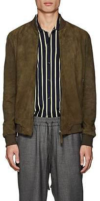 Barneys New York Lot 78 x Men's Suede Bomber Jacket - Green