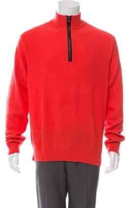 Michael Kors Turtleneck Zip-Up Sweater coral Turtleneck Zip-Up Sweater