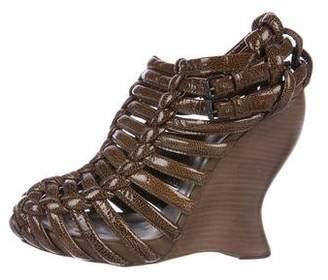 Bottega Veneta Caged Wedge Sandals