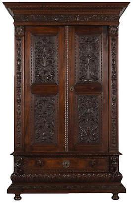 One Kings Lane Vintage Elegant Mid 19th Century Italian Armoire - Castle Antiques & Design