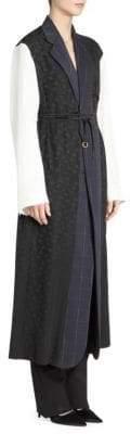 Stella McCartney Alina Mixed Media Wool-Blend Dress