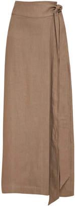 Bondi Born Universal Linen Wrap Skirt Size: M