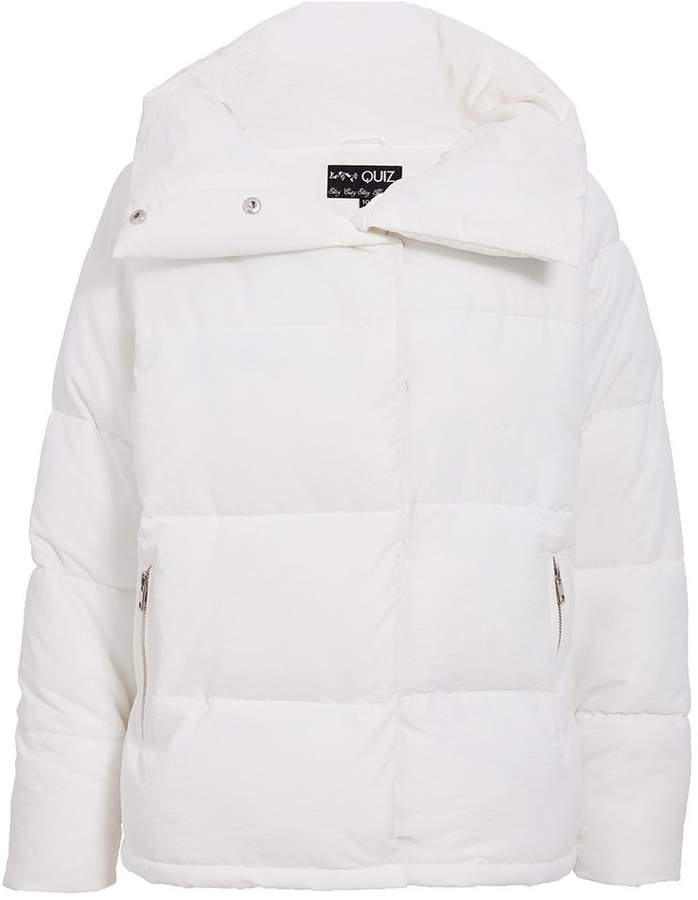 TOWIE Cream Short Puffer Jacket
