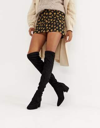 Bershka round toe OTK boot
