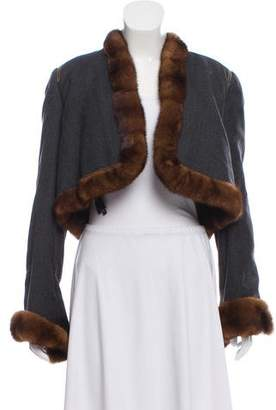 Gianfranco Ferre Cropped Fur-Lined Jacket