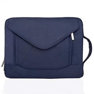 Mosiso MacBook Shoulder Bag Briefcase, Envelope Nylon Fabric Sleeve Handbag Carry Case Cover Only for New MacBook 12 Inch with Retina Display, Blue