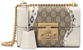 Gucci Padlock snakeskin small shoulder bag