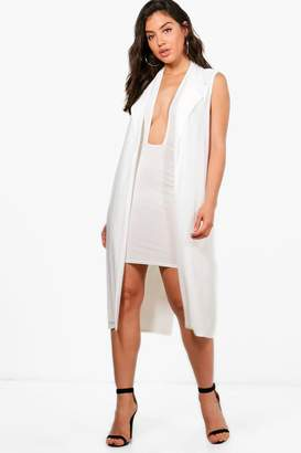 boohoo Bea Slinky Halter Dress & Duster Co-ord