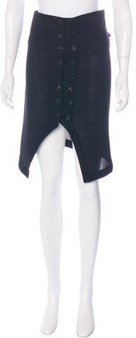 Ann DemeulemeesterAnn Demeulemeester Knee-Length Wool Skirt
