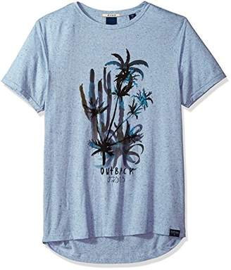 Scotch & Soda Men's Tee in Neps Quality with Washed-Out Artwork