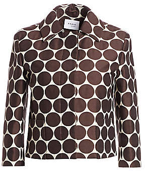 Akris Punto Women's Cropped Dotted Jacket