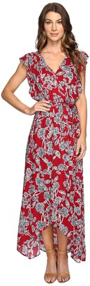 Splendid Etched Floral Wrap Dress $198 thestylecure.com