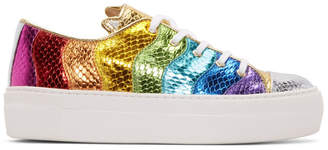 Charlotte Olympia Multicolor Metallic Purrfect Sneakers