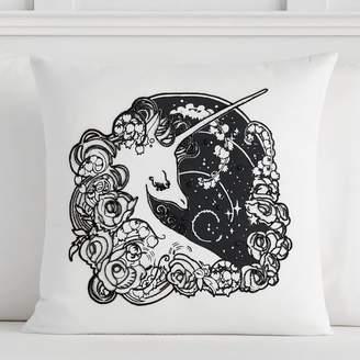 Pottery Barn Teen Anna Sui Unicorn Dreams Pillow Cover, 18x18, Unicorn Dreams