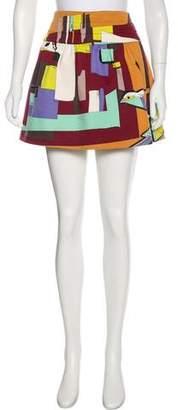 Emilio Pucci Silk Mini Skirt