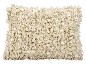 Nourison Mina Victory Loop Beige Shag Throw Pillow