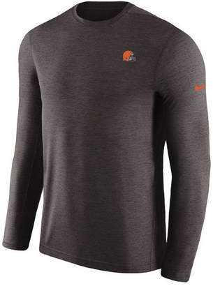 Nike Men's Cleveland Browns Coaches Long Sleeve Top