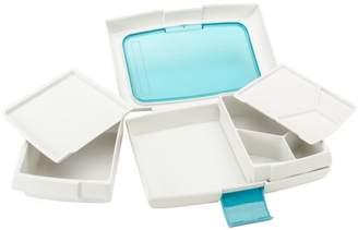 "Trudeau Maison Food To Go Bento Box 10""X6""X2.5""-Blue"