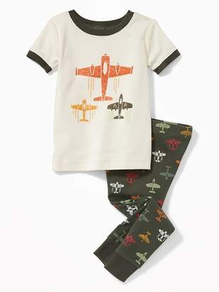 Old Navy Airplane-Graphic Sleep Set for Toddler Boys & Baby