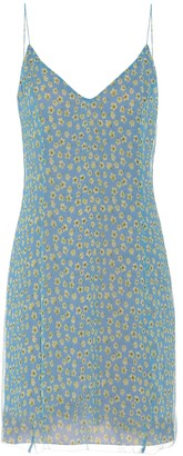Amiri Floral-printed silk minidress