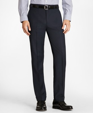 Brooks Brothers Regent Fit Wool and Mohair Check Trousers