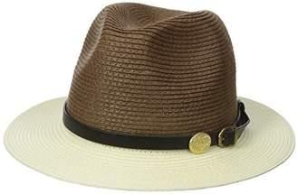 La Fiorentina Women's Straw Brim Hat with Leather Strap