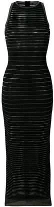 Balmain long striped dress