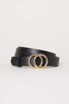H&M Narrow Belt - Black