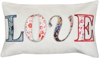 """Spencer Home Decor """"Love"""" Patches Oblong Throw Pillow"""
