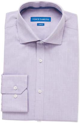 Vince Camuto Bright Purple Dobby Slim Fit Dress Shirt