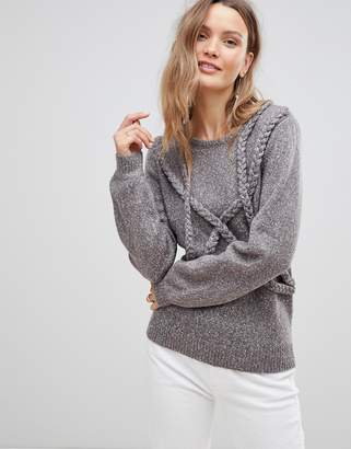 Lavand Braid Detail Sweater