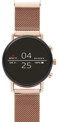 Skagen Falster 2 Rose Gold-Tone Mesh Smartwatch, 40mm