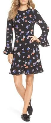 Eliza J Floral Flare Cuff Dress