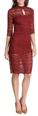 Kensie Dresses Lace Cutout Sheath Dress
