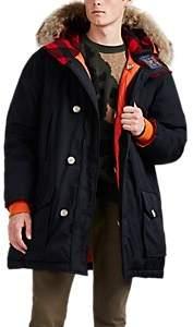 Woolrich Men's Atlantic Reversible Fur-Trimmed Down Parka - Black